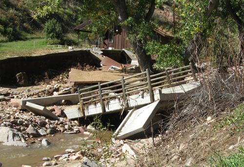 Bridge damages in floods