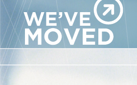 an image with type on it that says we've moved