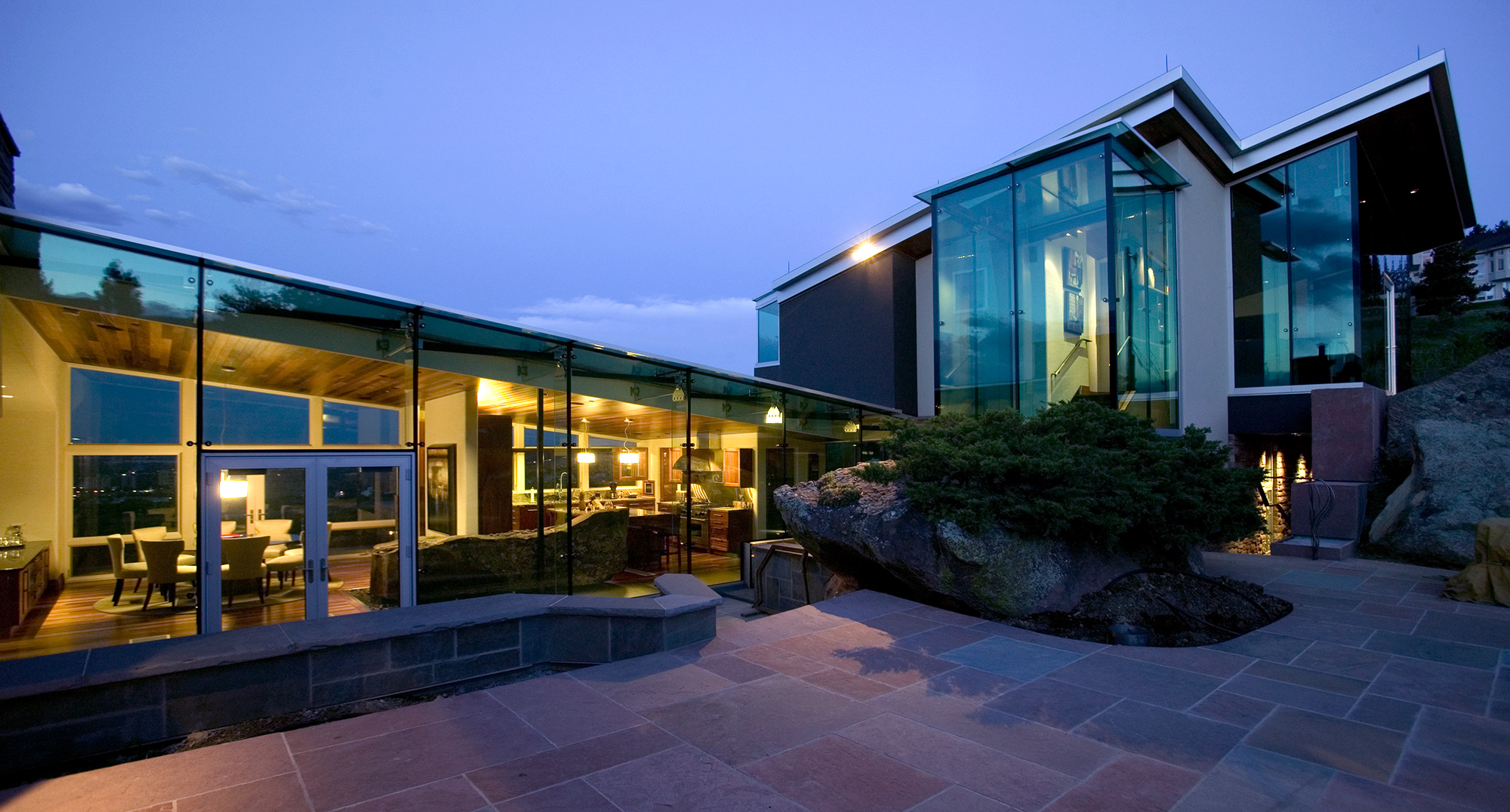 custom glass house in boulder colorado